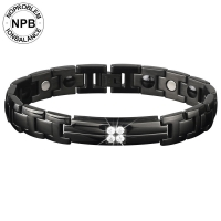 <b>P102 Power Hologram Tourmaline Ziron Health Man Bracelet</b>-P102