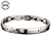P043 Magnetic Office Jewelry Beads silver Bracelet (lady)-P043