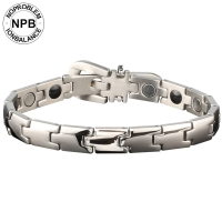 P020 Silver Metal Bio Health Benefits Metallic Bracelet (unisex)-P020