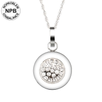 Health Round Shape Crystal Pendant Necklace (lady)-D029